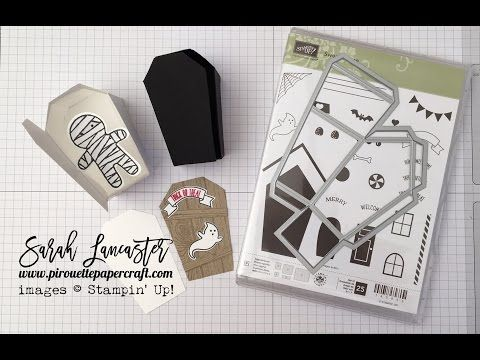 Stampin' Up! ® Demonstrator Sarah Lancaster | ORDER STAMPIN' UP! ONLINE 24/7 HERE: VIDEO | Home Sweet Home Coffin Treat Box for Halloween