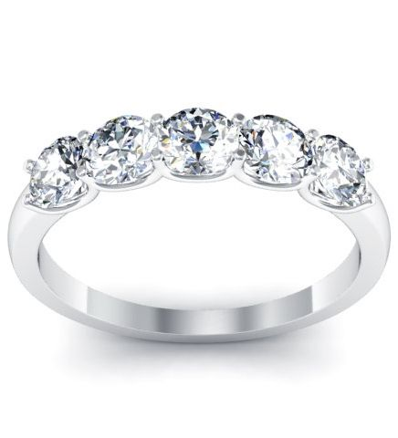 63 best 5 Stone Diamond Ring Settings images on Pinterest Diamond