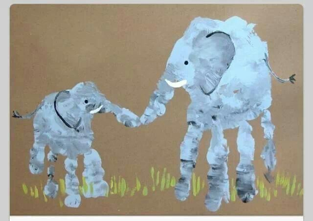 Handabdruck Elefanten