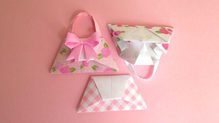 Origami Handbag instructions折り紙 ハンドバッグ 簡単な折り方