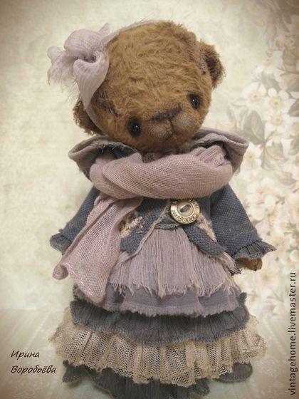 Вита - коричневый,мишка,мишка девочка,винтажный стиль,девочка,подарок девушке