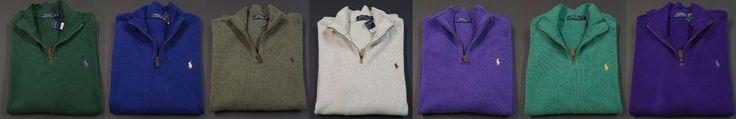 POLO RALPH LAUREN French Ribbed Half Zip Long Sleeve Sweaters NEW NWT  #PoloRalphLauren #12Zip