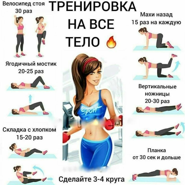 Упражнения для похудения в домашних