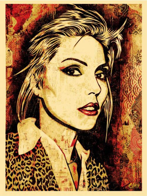 BlondieMusic, Canvas Prints, Debbie Harry, Street Art, Blondies, Artsy Fartsy, Cheetahs Prints, Streetart, Shepard Fairey