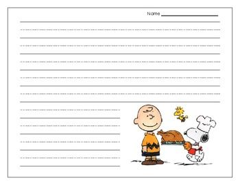 The perfect paper for Thanksgiving writing projects!  Realistic-teacher.blogspot.com  Follow Me on Pinterest
