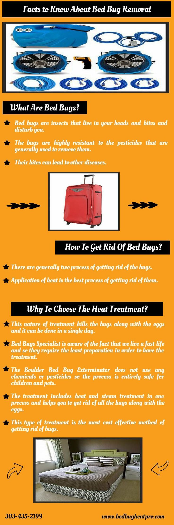 The Boulder Bed Bug Exterminator does not use any chemicals or pesticides so the process is entirely safe for children and pets. For more details, you can visit other official site @ http://www.bedbugheatpro.com