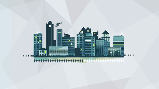 Crush | Siemens - The Crystal, Did You Know? Building and Cities Illustration