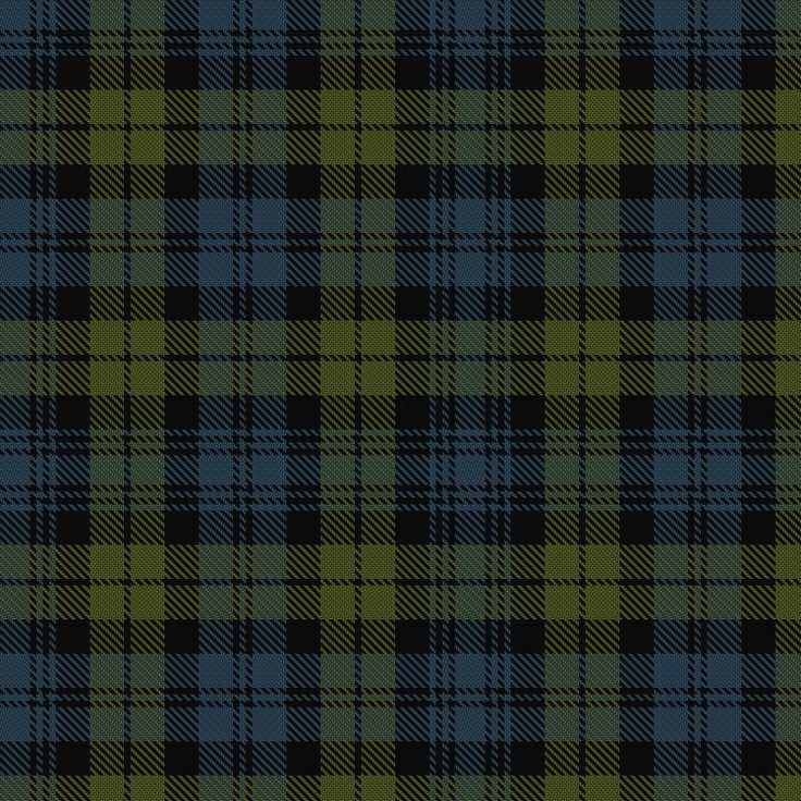 Campbell, aka Black Watch. The tartan appointed for the Highland Companies in 1725 and later for the Black Watch in 1739. This tartan is worn by the present Duke of Argyll, who has approved the sett. The Black Watch is the same sett but dyed in darker shades.