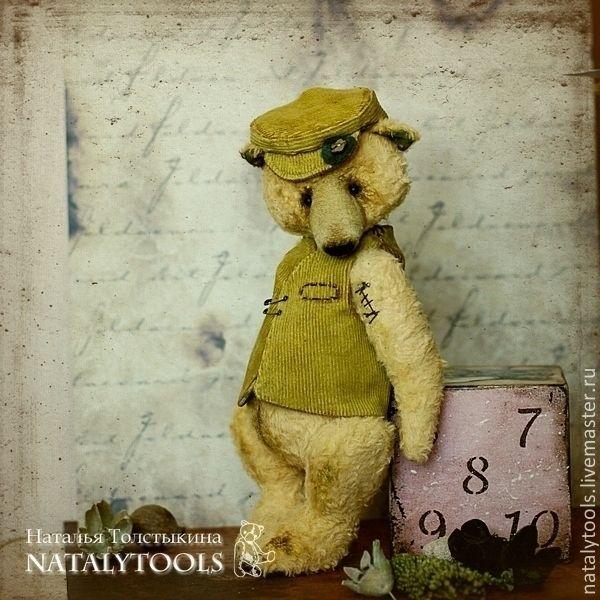 Купить мишка-тедди Арон. Коллекционный медведь тедди. - мишка тедди, медведь, медвежонок, винтаж