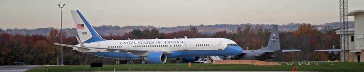 Air Force 2 at New Castle airport so Biden can vote 11-06-12
