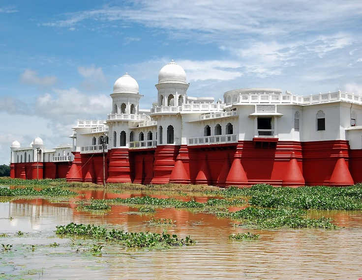 Neer Mahal - The Water Palace of Tripura.  My great-great-great Uncle lived here.