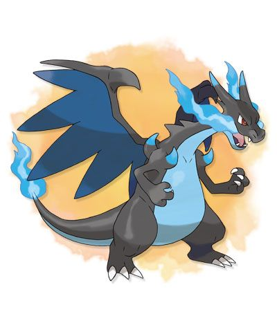 Ok so this is mega Charizard X, I was going to get Y, but this might have changed my mind