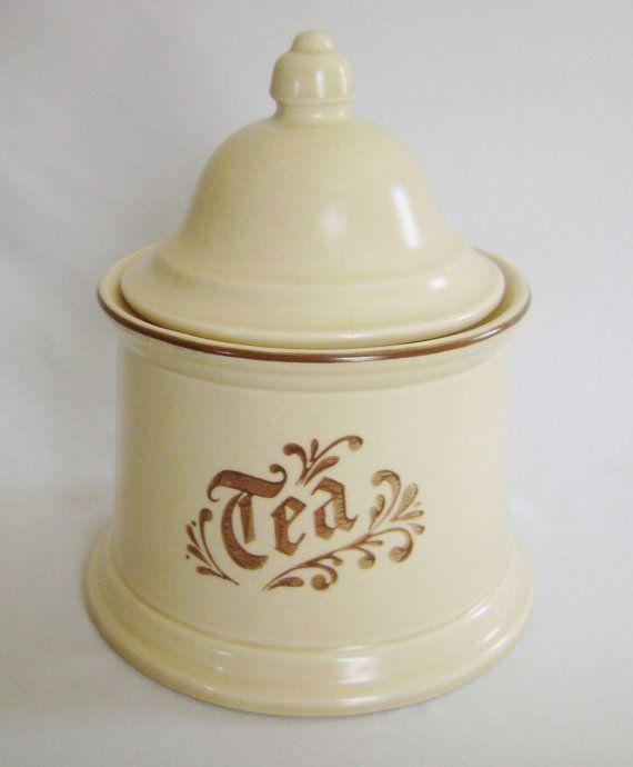 vintage pfaltzgraff village pattern tea canister no kitchen home decor kitchen storage kitchenware collectible jar - Pfaltzgraff Patterns