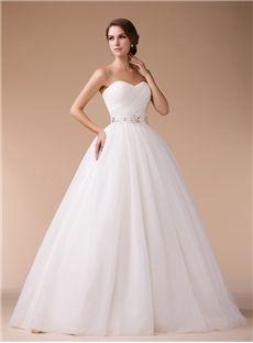 Plus Size Spring Winter Zipper-up Natural Strapless Fall Floor-Length Wedding Dress