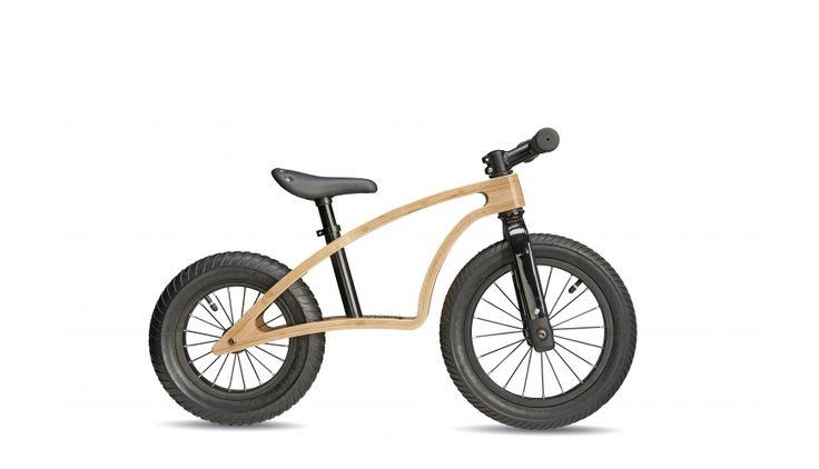 S'cool pedeX bamboo Laufrad bamboo black