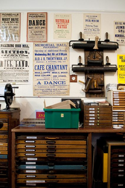 print press room, beck isle museum, pickering by maraid, via Flickr LOVE LOVE