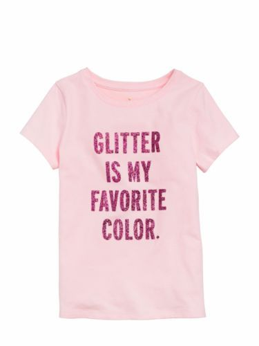 NEW-KATE-SPADE-New-York-Glitter-Is-My-Favorite-Color-Tee-Shirt-Top-pink-XL