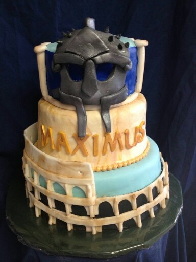 Gladiator Maximus Cake Boy S Birthday Cakes Pinterest