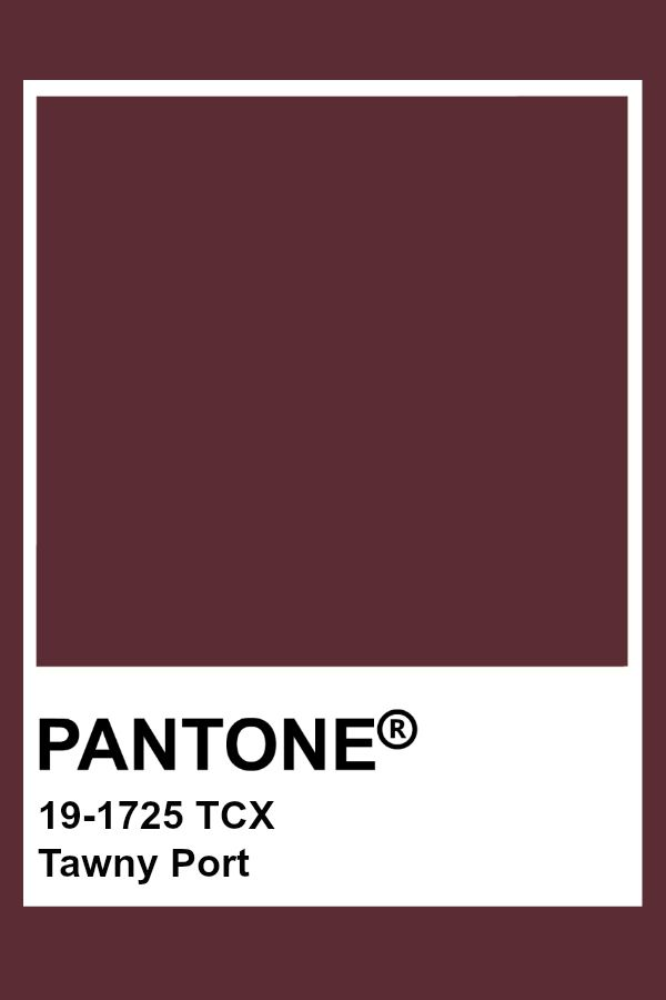 Pantone Tawny Port In 2020 Pantone Color Pantone Tcx Pantone