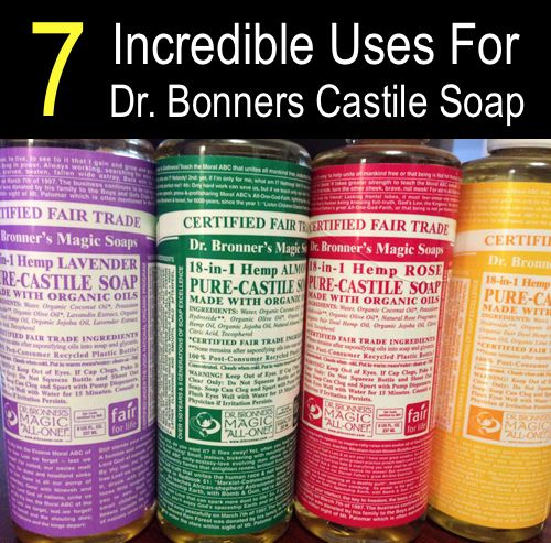 7 incredible uses for dr bronner s castile soap http homestead and. Black Bedroom Furniture Sets. Home Design Ideas