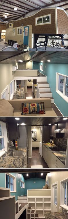 The Westbury is a 32′ gooseneck tiny house designed and built by Cornerstone…very roomy.