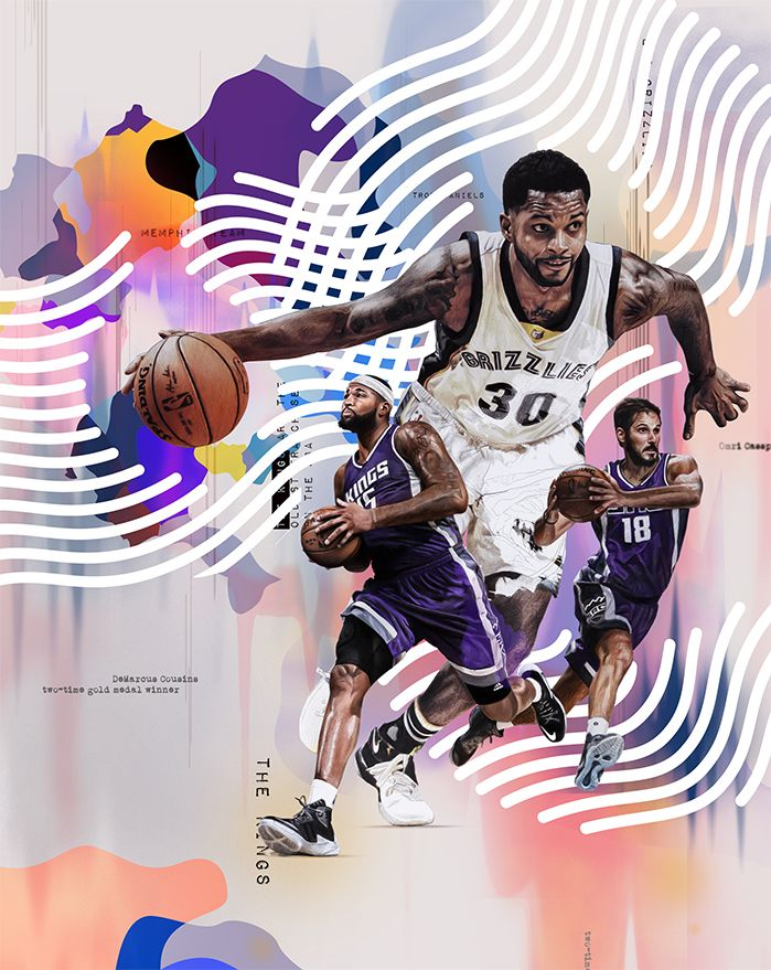 Sport illustration, NBA, Basketball, nike.