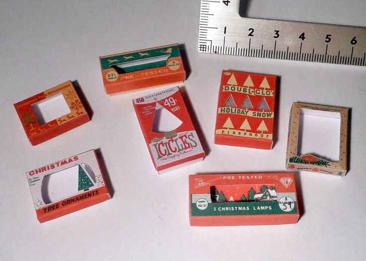 Amber's House: 1:12 scale Christmas boxes - Super bumper edition printable! :D