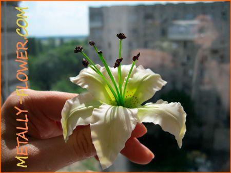полимерная глина мастер класс лилия