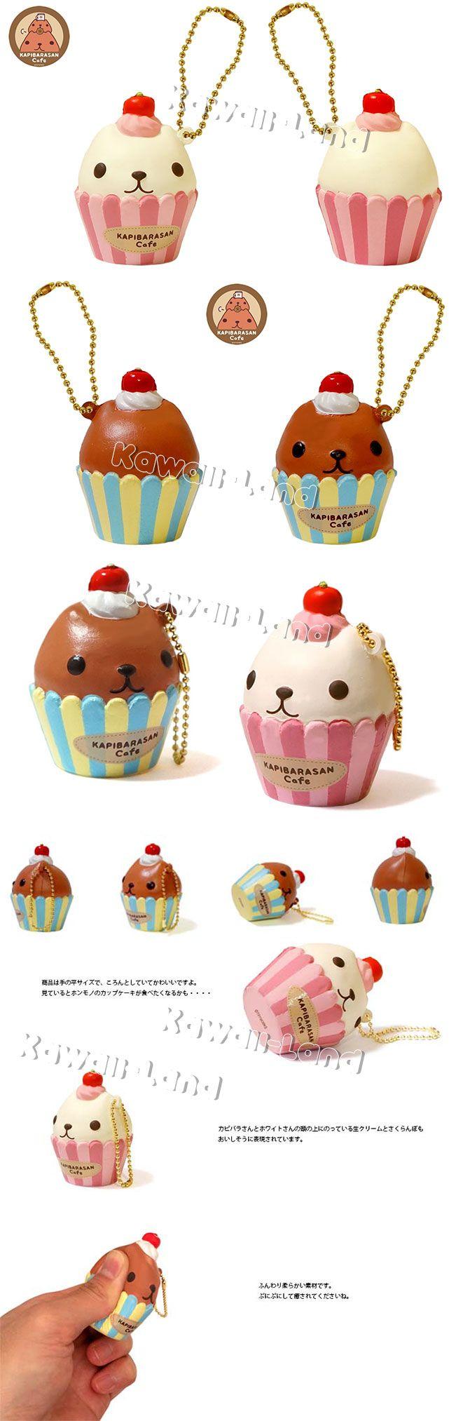Kapibarasan Cupcake Squishy Whitesan Squishy