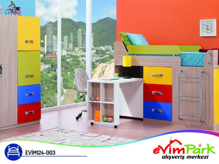 Sonunda çocuğunuzun aradığı renkleri, dinamik ve rahat tasarımı buldunuz! Çalışma masasında dahi görebileceğiniz işlevsel raf alanı ayrıntıları ile ailenizin beğenisini kazanıyor. Çocuk odalarında harika bir atmosfer oluşturarak, çocukların hayatına renk katıyor.