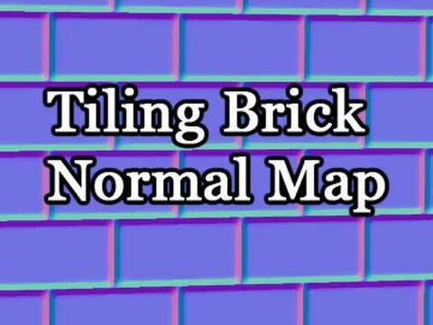 Game Assets - Basic Tiling Brick Wall Normal Map - YouTube