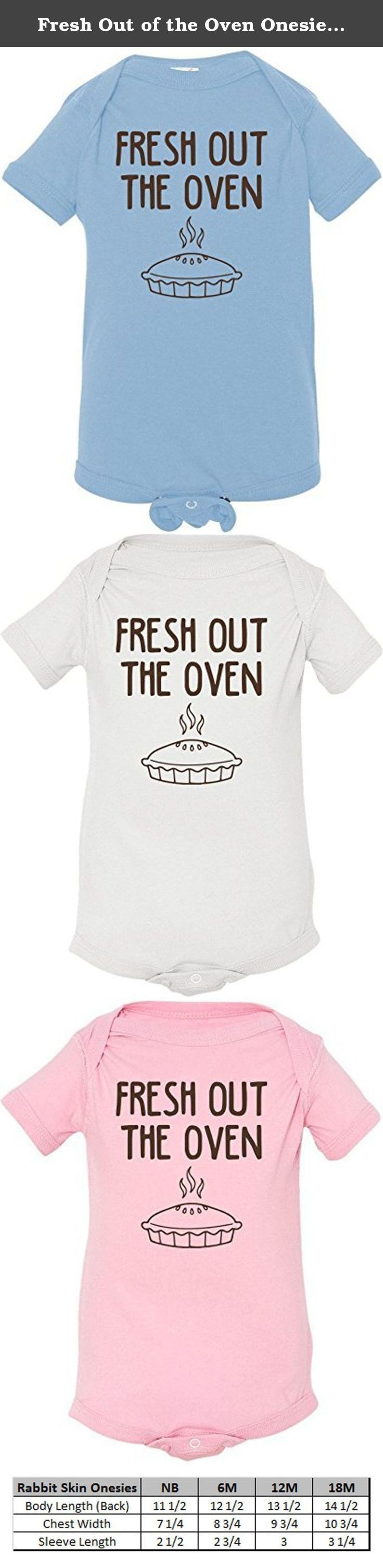Fresh Out of the Oven Onesie NB-18M Infant Romper Creeper. 100% Cotton. Soft and comfortable.