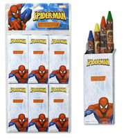 Spiderman party favors - spiderman crayons