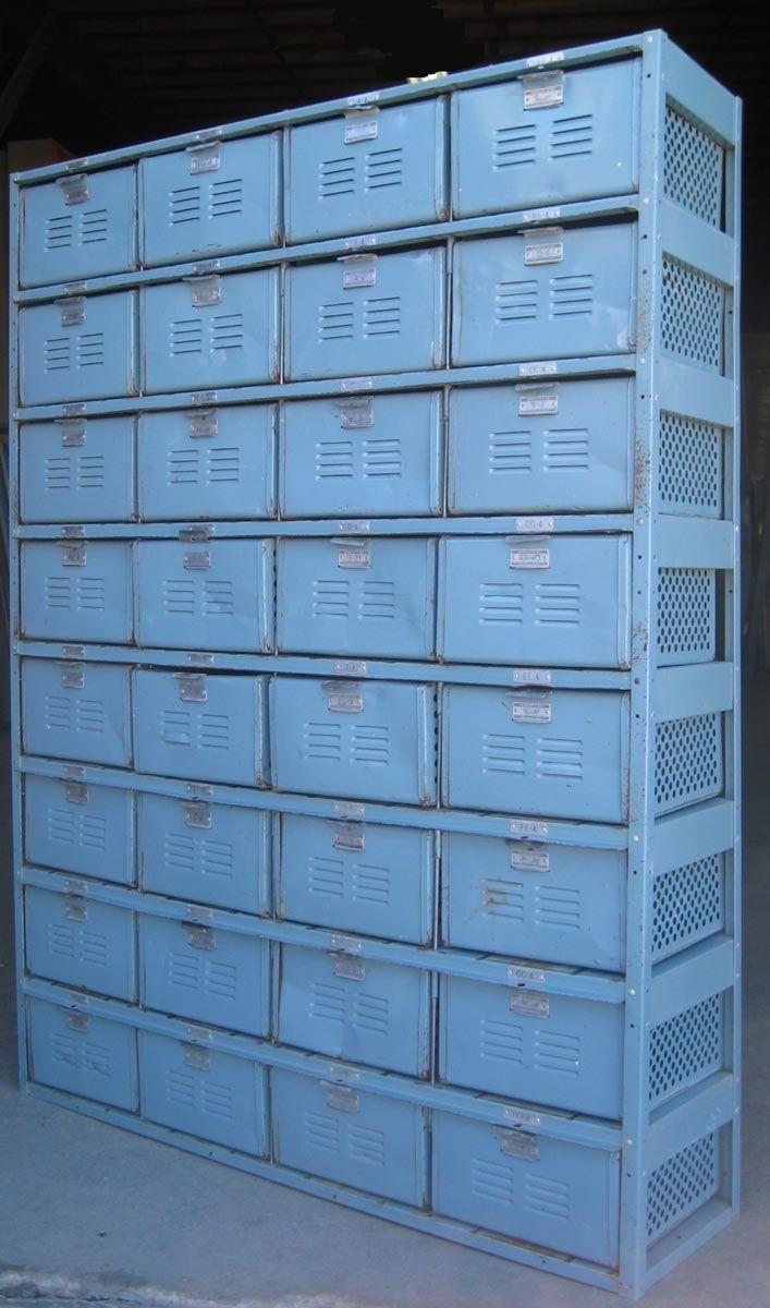#MilanDirectIndustrial    Blue locker boxes.  Wish wish wish I had one of these.