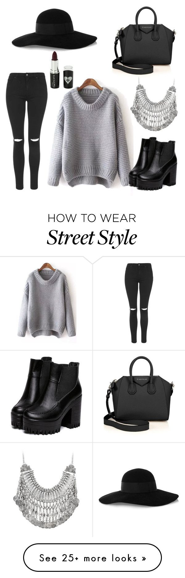 """Street style/casual"" by chloebreann on Polyvore featuring Topshop, Eugenia Kim, Givenchy and Voom"