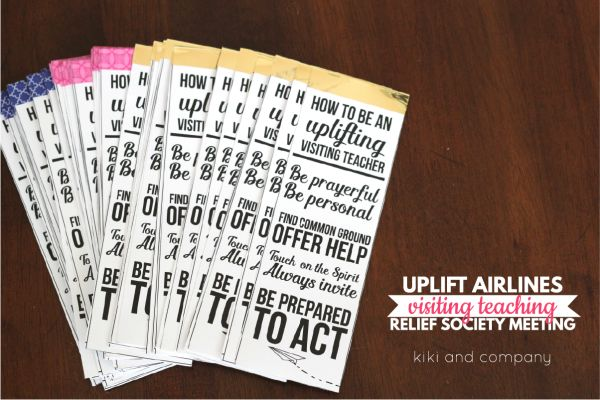 Have and UPLIFTING Relief Society Meeting on Visiting Teaching with this fun idea and printables.