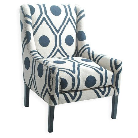 wood white and navy yes: Living Rooms, Wood Products, Arm Chairs, Cotton Upholsterycolor, Armchairs, Accent Chairs, Cotton Upholstered Arm, Mary Arm, Wood Frames