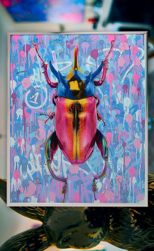 Dominic Vonbern .com bug artwork beetle art work, street art, switzerland