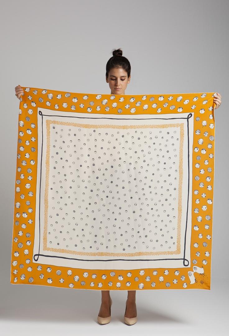 "rumisu silk scarf named""polka alla turca"""