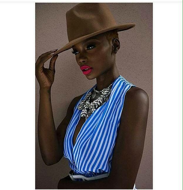 Wow!! This is beauty indeed. #Beautyshot #stunning #Ebony #model #fashion #style #herblackisbeautiful #Blackdontcrack #makeup #fashionista #stylish #hat #teamnatural #naturalista #Beautifulindeed #neckpiece #redlips #honeyblonde #Blackdontcrack #shorthair #hairstyle #naturalhair