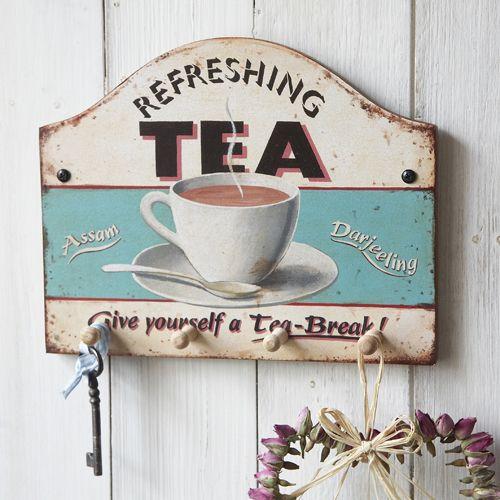 Refreshing Tea Key/Tea Towel Holder