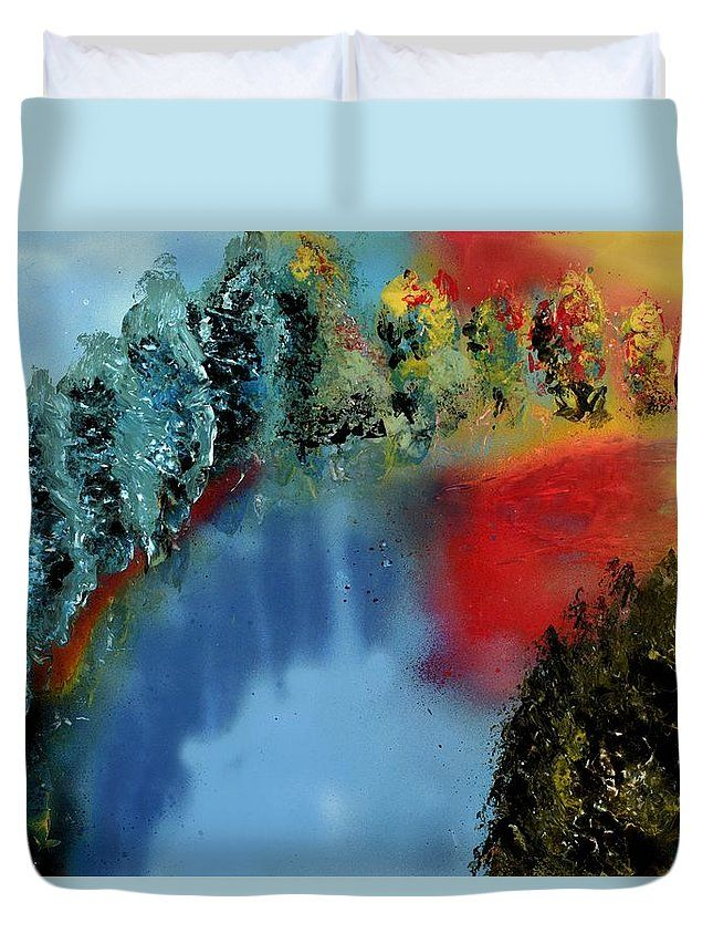 River Of Colors Duvet Cover Printed with Fine Art spray painting image River Of Colors Nandor Molnar (When you visit the Shop, change the size, background color and image size as you wish)