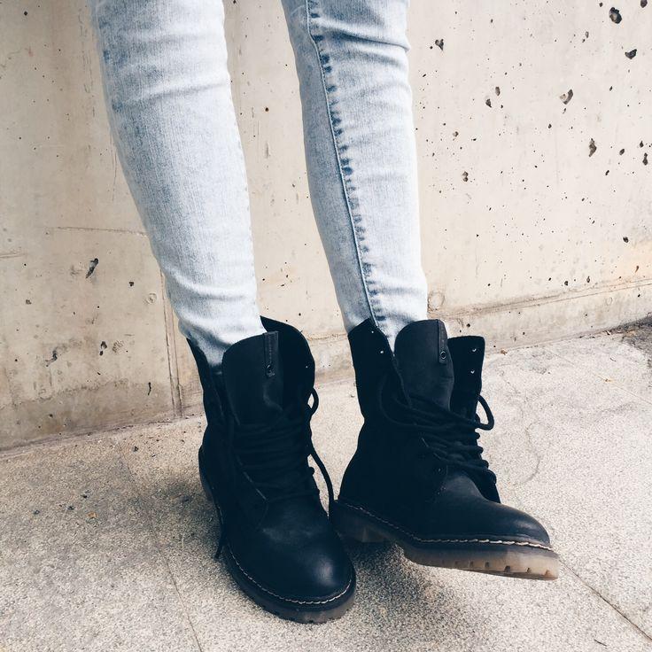 botas negras cordones mujer 76b58b7c868f7