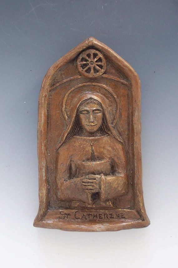 Know someone who loves teaching and loves God? They might also love this handmade statue of St. Catherine, the patron saint of teachers.