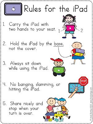Tips for the One iPad Classroom, and a Free iPad Rules Download! | Heidi Songs