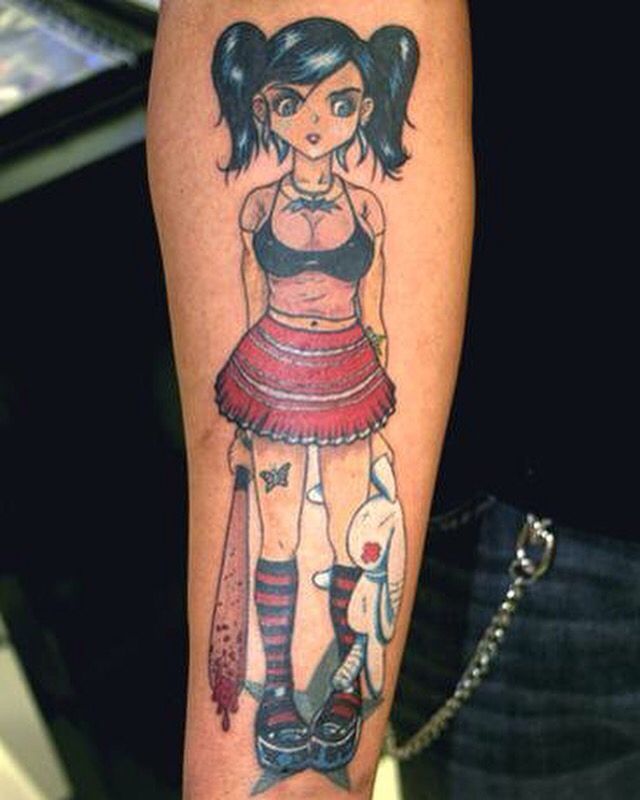 Animé pin up I guess you'd call this suicide girl looking thing. Done by Patrik Gladmark.