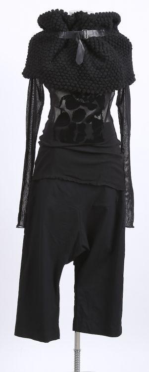 rundholz - Hose Stretch mit weitem Bein black - Winter 2016 - stilecht - mode für frauen mit format...