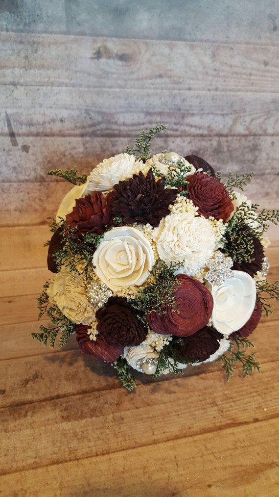 Burgandy And Dark Cabernet Wedding Bouquets By