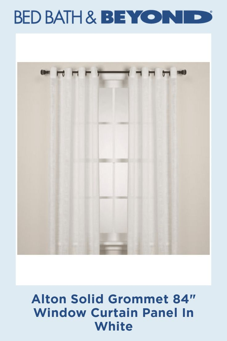 Alton Solid Grommet 84 Inch Window Curtain Panel In White Living