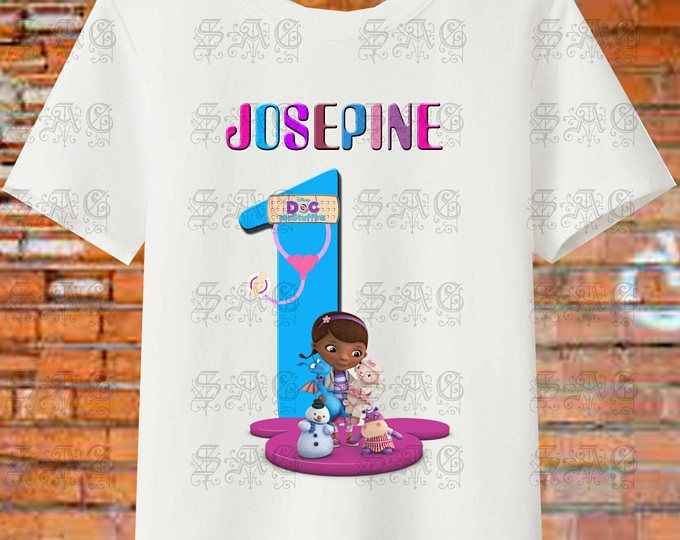DOC MCSTUFFINS PERSONALIZE Birthday Girl Resolution Image Iron On Transfers. Digital File